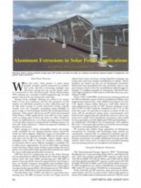 Aluminum Extrusions in Solar Power Applications