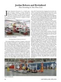 Jordan Reborn and Revitalized: Now Investing in New Press Line