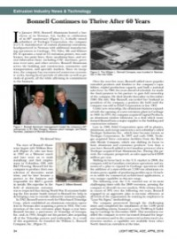 Extrusion Industry News & Technology: Bonnell Continues to Thrive After 60 Years