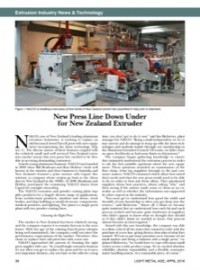 Extrusion Industry News & Technology: New Press Line Down Under for New Zealand Extruder