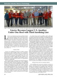 Extrusion Industry News & Technology: Linetec Becomes Largest U.S. Anodizer Under One Roof with Third Anodizing Line
