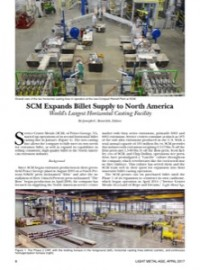 SCM Expands Billet Supply to North America: World's Largest Horizontal Casting Facility