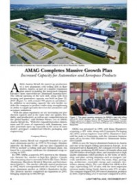 AMAG Completes Massive Growth Plan: Increased Capacity for Automotive and Aerospace Products