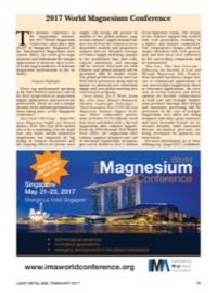 2017 World Magnesium Conference