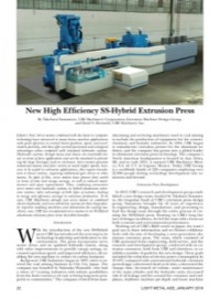 New High Efficiency SS-Hybrid Extrusion Press
