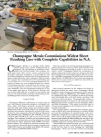 Champagne Metals Commissions Widest Sheet Finishing Line with Complete Capabilities in N.A.