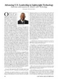 Advancing U.S. Leadership in Lightweight Technology: Interview with Lawrence E. Brown, LIFT Technology